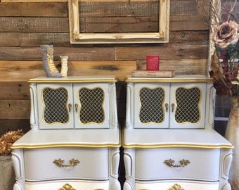 French Provincial Nightstands Set