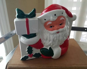 Santa Japan, vintage, napkin holder, christmas,