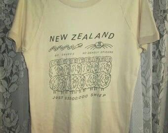 Vintage 1970s New Zealand Travel T-shirt