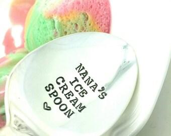 Mother's Day Gift for Nana, Nana's Ice Cream Spoon, Gift for Nana, Nana's Ice Cream, Nana Gift