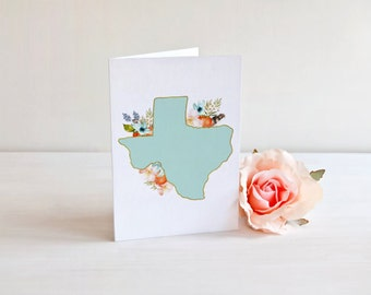Texas floral folded cards. Texas cards. Texas folded cards, Texas floral cards. Texas Hostess Gift. Texas floral gift. Texas