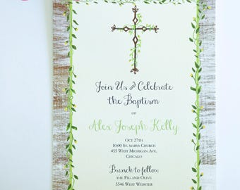 RELIGIOUS INVITATIONS  - Baptism, First Communion, or Confirmation
