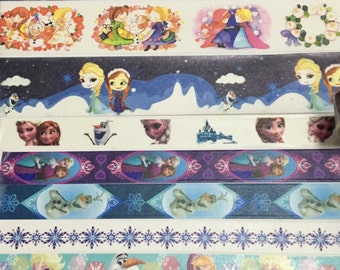 SAMPLE: 8 Designs of Disney Frozen Limited Edition Washi Tape (1m each)