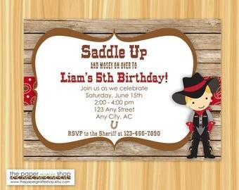 Cowboy Invitation | Cowboy Birthday | Cowboy Birthday Party Invitation | Cowboy Party | Western Birthday Party