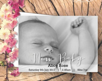 New Baby Card with Photograph