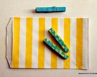 """Bags, wallets kraft """"yellow bands"""" (set of 10) made in USA 13 cm x 19cm"""