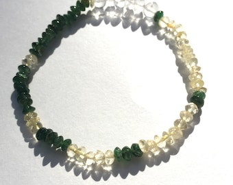 Citrine and Green Aventurine Fibonacci Sequence Bracelet