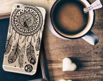 Custom Iphone 6s case clear, Dream catcher Iphone 6 Plus case clear, Unique Iphone case, Clear hard plastic case  (1591)
