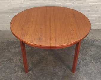 G PLAN Fresco Mid-Century Danish Modern Teak Dining Table W/2-Extensions - Shipping NOT Included