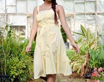 Vintage Yellow Summerdress