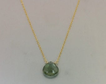 Original La La Land Green Moss Aquamarine Necklace