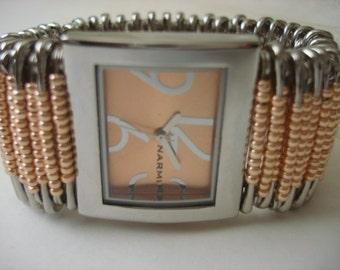 Orange Safety Pin Watch