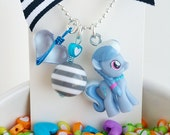my little pony / little girl charm necklace / silver spoon