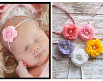 You Pick 3 - Baby Headband, Infant Headband, Newborn Headband, Light Pink Baby Headband