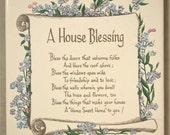 House Blessing Plaque Sign Warming Trivet Gift Tile Home