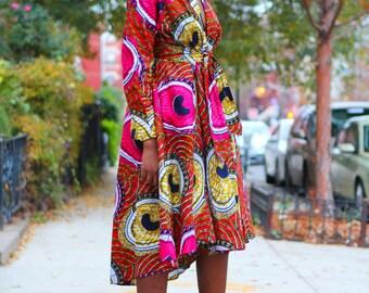 High Low Fuchsia Wrap Jacket/Dress - Plus Sizes Available
