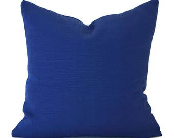 Blue Outdoor Pillows ANY SIZE Outdoor Cushions Outdoor Pillow Covers Decorative Pillows Outdoor Cushion Covers OD Forsythe Bright Navy