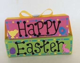 Easter Block Set, Easter Shelf Sitter, Wooden Blocks, Bunny, Easter Home Decor,  Easter Gift, Holiday Office Decor