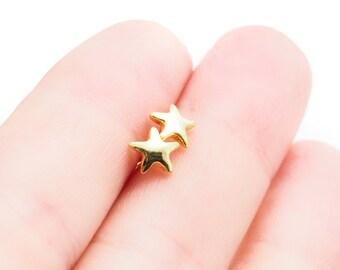 Konani Earring- Stud Earring, Gold Earring, Gold Star Earring, Star Stud Earring, Open Stud Earring, Star Post Earring, Hawaii Jewelry