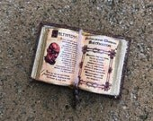 Charmed Book of Shadows Open to Belthazar (Cole) - Dollhouse Miniatures