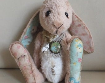Plush Rabbit - vintage style - handmade - collectable teddy - MADE TO ORDER