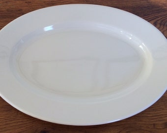 "Vintage Restaurant Ware Oval Serving Platter Buffalo China Unused 15.5"" x 11"""