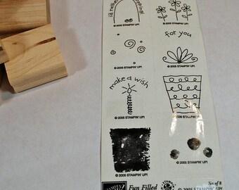 Retired Stampin Up Stamp Set Fun Filled