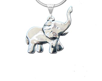 Sterling Silver Elephant Body Pendant
