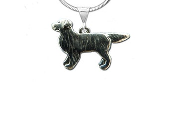 Sterling Silver Golden Retriever Whole Body Pendant