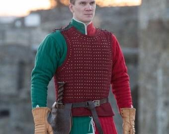 """20% DISCOUNT! Brigandine """"Hound of War""""; Medieval Brigandine; Brigandine; Woolen Brigandine"""