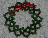 Tatted Wreath Christmas Ornament