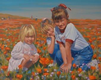 Portraits - Original Oil Painting - Children - Grandchildren - Commissions - Sitting - Family - Home - House - Friends