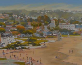 Laguna Beach - Landscape - Plein Air - Oil Painting - California - Coast - Beach - Sand - Aerial View - Vacation - Ocean - Seascape