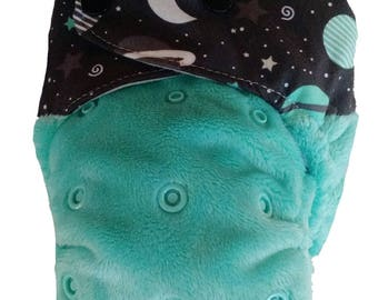 SPACE EXPLORER - snap in one multi fit nappy
