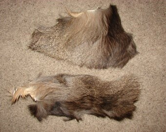 2 Mule Deer Fur Scraps Pieces, fur for fly tying, deer hide scrap, real fur pieces, animal hide fur, crafting animal fur, real animal fur