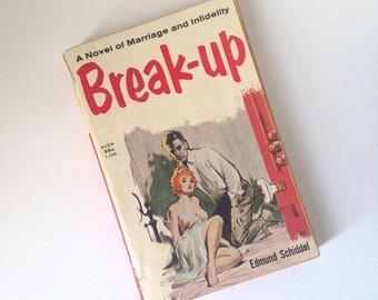 Vintage Original Pulp Fiction Paperback Novel Book The Break-Up by Edmund Schiddel 1954