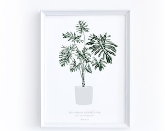 Kitchen Wall Art, Lacy Tree, Selloum, Tropical Wall Art, Gift for Daughter, Botanical Poster, Plant Poster, Gift Idea for New Home