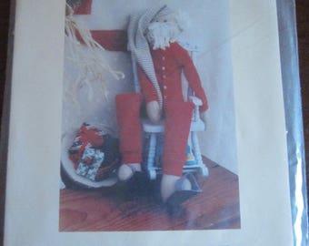 "Ready to Retire 19"" Stuffed Santa Doll"