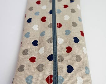 Flat pencil case/ makeup bag/ brush case