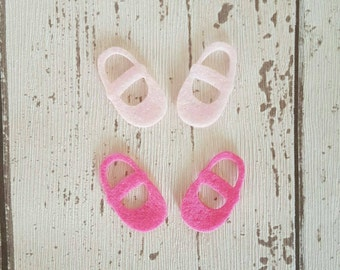 Felt Baby Shoes, die cut felt, baby shower confetti, gender reveal party, felt embellishment, baby confetti, die cut shoes, gender reveal