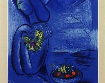 """Chagall 17 """"Chagall peintures aquarelles dessins"""" printed 1959 Mourlot Art in posters"""