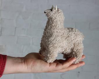 Soft toy beige llama, plush toy Llama, alpaca  stuffed toy