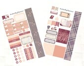 Personal Planner Stickers, Soft Autumn Kit, Vinyl stickers, desk calendar reminders