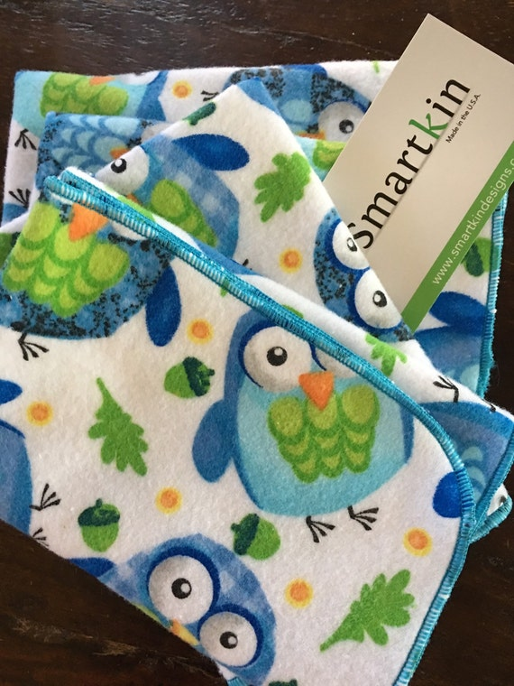 Blue Owl Go Green Absorbent  Soft Flannel Unpaper Towel by Smartkin