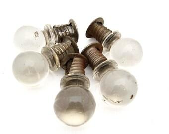 vintage glass knobs globes