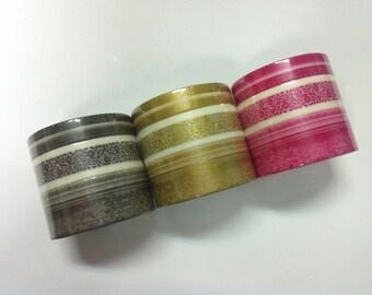 Mark's maste Masking Tape / Japanese Washi Tape / frame /  MSG-MKT05 /  MSG-MKT06-GD