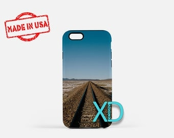 Train iPhone Case, Desert iPhone Case, Train Track iPhone 8 Case, Railroad, iPhone 6s Case, iPhone 7 Case, Phone Case, Safe Case, SE Case