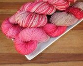 Cranberry Spice on Maple, Merino/Nylon Fingering Weight Hand-dyed Yarn