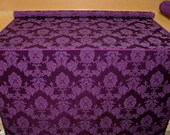 purple madagascar designer curtain upholstery fabric for high quality furnishing or craft projects sold by the yard
