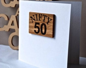 50th Birthday Magnet Card